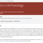 Bayesian Statistics in Archaeology
